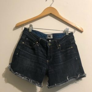 PAIGE Jimmy Jimmy Raw Cuff Denim Shorts
